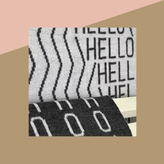 [HELLO]   - Un saluto ma anche un motto di vita e una condivisione di gioia!   - A greeting but also a life motto and a sharing of joy!   - #texitile #handcraft #handmade #plaid #madeinitaly