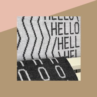 [HELLO] - Un saluto ma anche un motto di vita e una condivisione di gioia! - A greeting but also a life motto and a sharing of joy! - #textile #handcraft #handmade #hello #madeinitaly