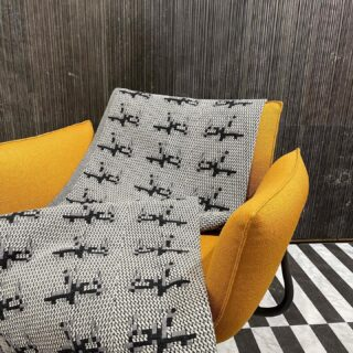 """Plaid Punto Pecora L. Designed by @studiocharlie_design   Uno dei nostri progetti più iconici realizzato con una speciale tecnica di tessitura jacquard a cartoni perforati chiamata """"triplice"""".  @magis_official @salvatori_official  @materiadaabitare  #homedecor #hometextile #winteriscoming #textiledesign #madeinitlay #slowfashion #jacquard #uniquegifts #design #textileoftheday #home #casa #homedecoration #winterfashion #onlineshopping #inspiration #autumn #fall"""